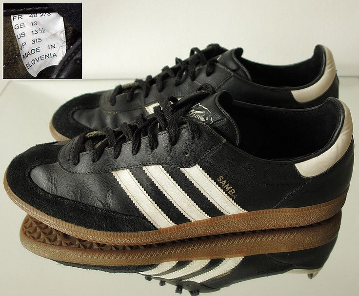 Adidas Samba Trainers Leather Sneakers UK12 12 5 EU47 US13 Superb Slovenia 1992 | eBay