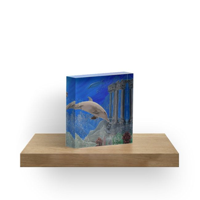 Gifts for animal, dolphins, lovers,acrylic block