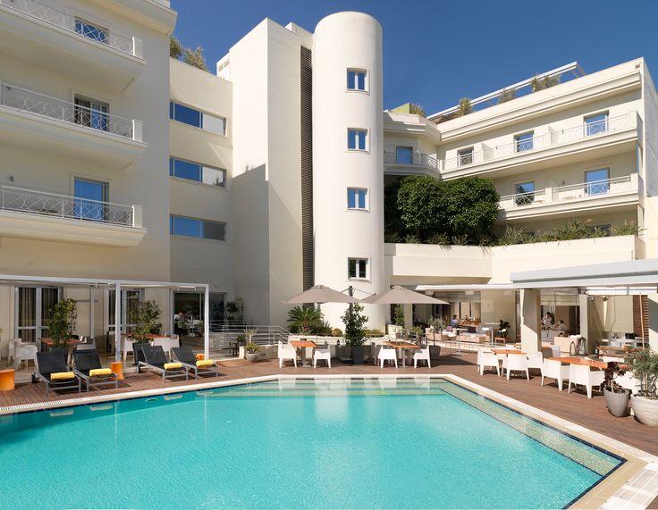 Elefsina Hotel, Pool area.