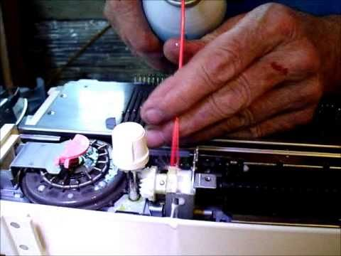 ▶ trouble shooting the card reader on a Brother Knitting Machine - YouTube