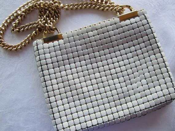 60s Whiting and Davis Mesh Purse by FancyVintageFinds on Etsy, $37.00