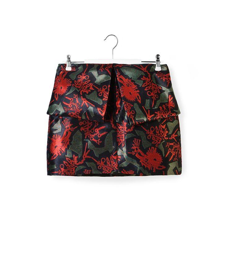 Kenzo Red color printed skirt