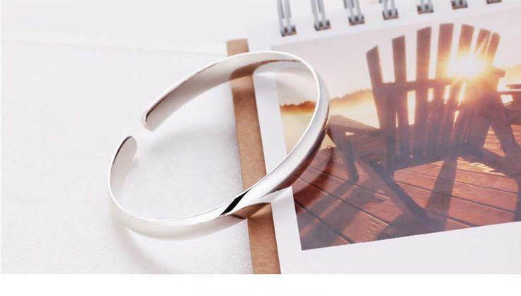 925 pulseras de plata mujeres de moda clásica brazaletes envío gratis en Brazaletes de Joyería en AliExpress.com | Alibaba Group