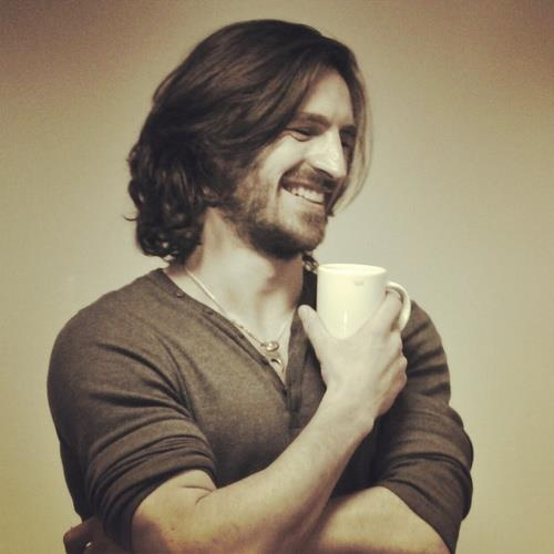 Eoin Macken and the ubiquitous cup of coffee