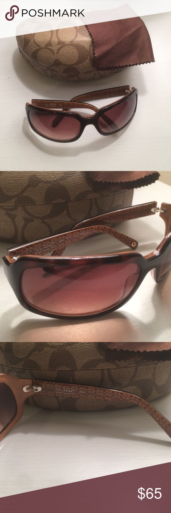 Coach MIA sunglasses Beautiful sunglasses. Comes with case and cleaning cloth. Tortoise colored. Worn and loved for years. Coach Accessories Sunglasses