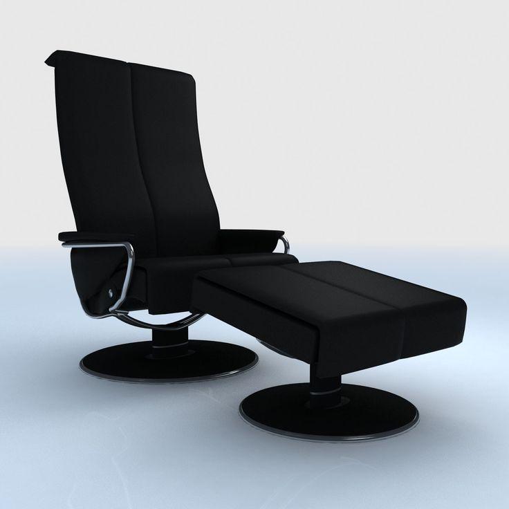 Ekornes Stressless Blues Recliner 3D Max   3D Model