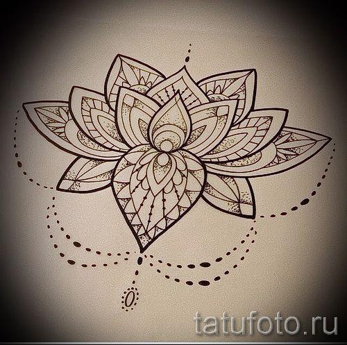 мандала тату эскизы на запястье - рисунок для татуировки от 02052016 5