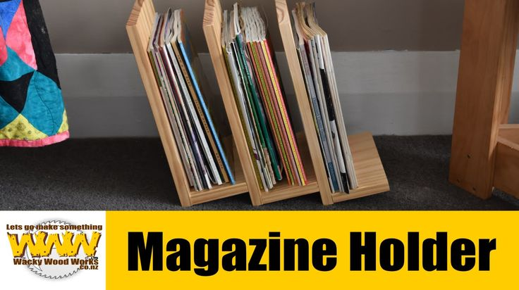 Magazine Holder - Off the cuff - Wacky Wood Works