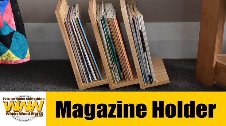 Magazine Holder - Off the cuff - Wacky Wood Works