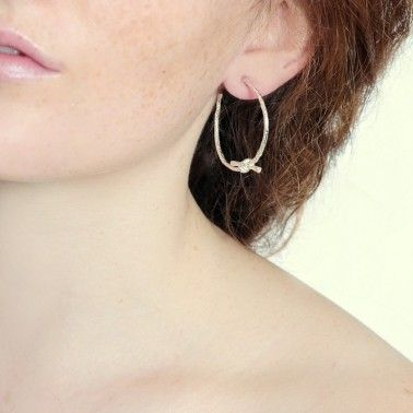 Large hoop earrings with a twist! KNOTTED HOOP EARRINGS - sterling silver £95.