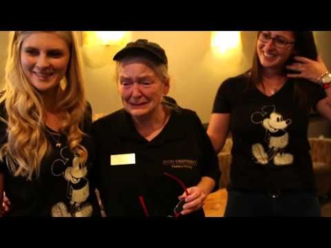 Students from Elon University (right here in North Carolina) surprised Kathryn Thompson, who's been working at a campus-based coffee shop for more than 10 years . . . with an all-expenses paid trip for her and her grandkids to Disney World. Seriously. Grab a snot-rag before ya'll watch this.