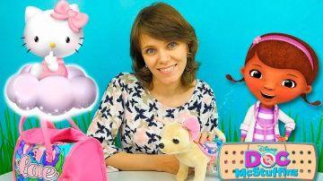 Игры для девочек: Доктор Плюшева Хеллоу Китти и  Игрушки Милы. Видео для детей #НосикиКурносики http://video-kid.com/20939-igry-dlja-devochek-doktor-plyusheva-hellou-kitti-i-igrushki-mily-video-dlja-detei-nosikikurnos.html  Видео для детей #НосикиКурносики в котором Мила играет с игрушками для девочек. Дети увидят интересную железную дорогу #ХеллоуКитти и игрушечную больницу Доктор Плюшевой в которой будет лечиться совёнок Ух из мультика #ТигрёнокДаниель. Смотреть развивающие видео Носики…