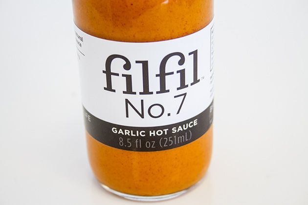 In Praise of: Filfil Foods No 7. Garlic Hot Sauce... This hot sauce has over 20 cloves of garlic in each bottle. Consider yourself warned.