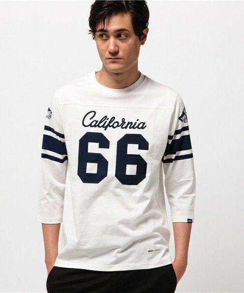 JACKROSE(ジャックローズ)のVANSフットボール7分Tシャツ(Tシャツ/カットソー) ホワイト