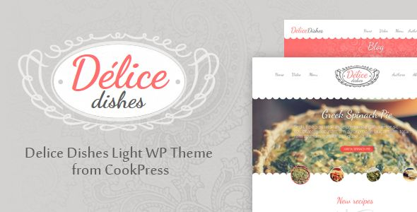 Delice Dishes Light WP Cook Restaurant Theme • by CookPress