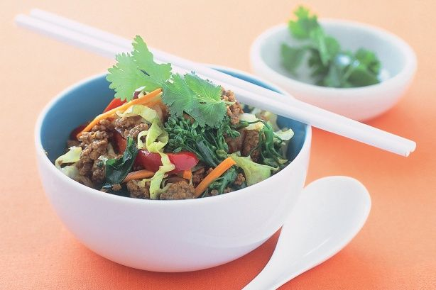 Looking for new ideas with mince? Try this quick and easy stir-fry which is full of healthy vegetables.