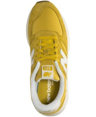 New Balance Women's 420 Suede Casual Sneakers from Finish Line - Yellow 5.5
