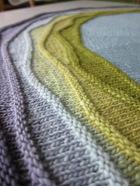 LightWaves knit shawl pattern by Susan Ashcroft