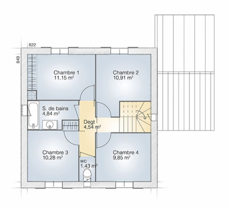 38 best Maison de luxe images on Pinterest Architecture, Home - plan maison 110m2 etage