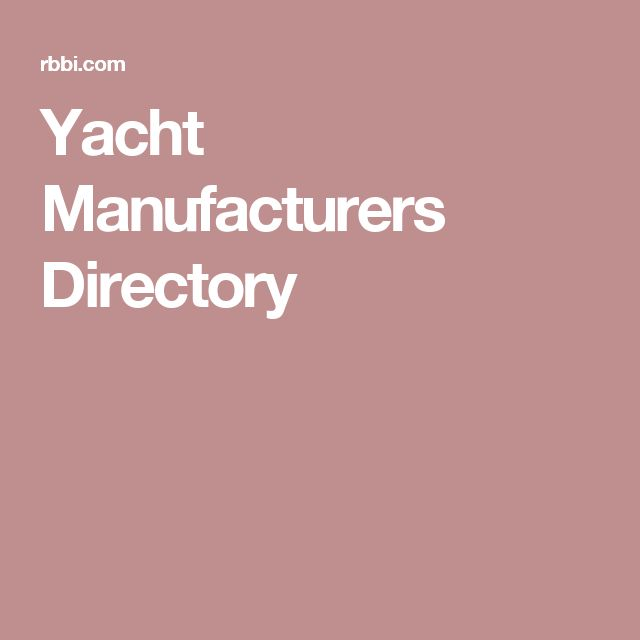 Yacht Manufacturers Directory