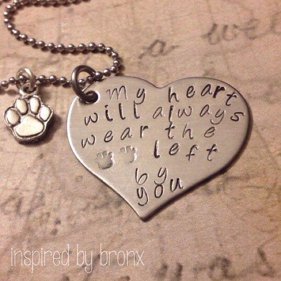 Personalized pet memory necklace dog jewelry by InspiredByBronx, $25.00