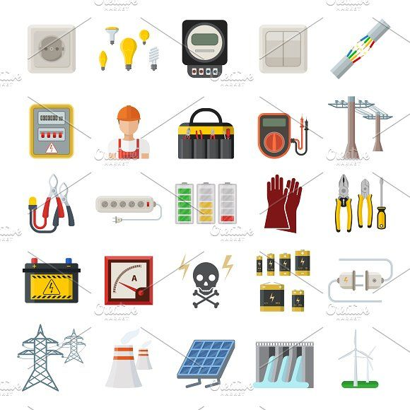 Energy vector power icons by Vectorstockerland on @creativemarket