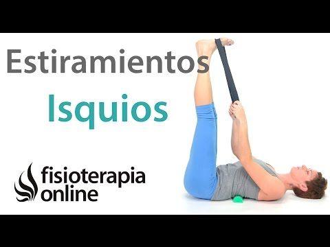 Estiramiento de isquiotibiales de las piernas con corrección de las lumbares. - YouTube