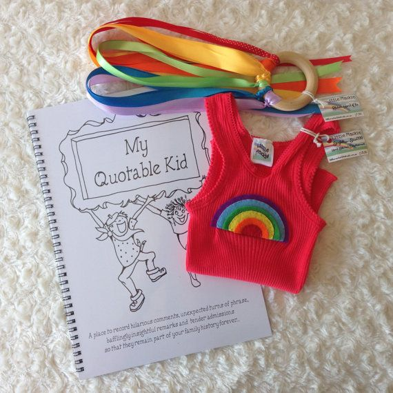 Baby Gift Pack  Rainbow by LittleMackie on Etsy, $30.00