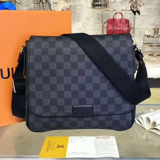 ac1e710806f1 Louis Vuitton N41260 District PM Messenger Bag Damier Graphite Canvas