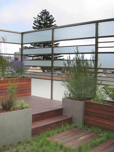 Interesting fence idea: Privacy Fence, Privacy Screens, Modern Fence, Roof Deck, Landscape Design, Feldman Architecture, Modern Landscape, Planters Boxes, Fence Design