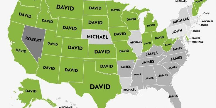 America's Most Popular Boys' Names Since 1960 In 1 Spectacular GIF