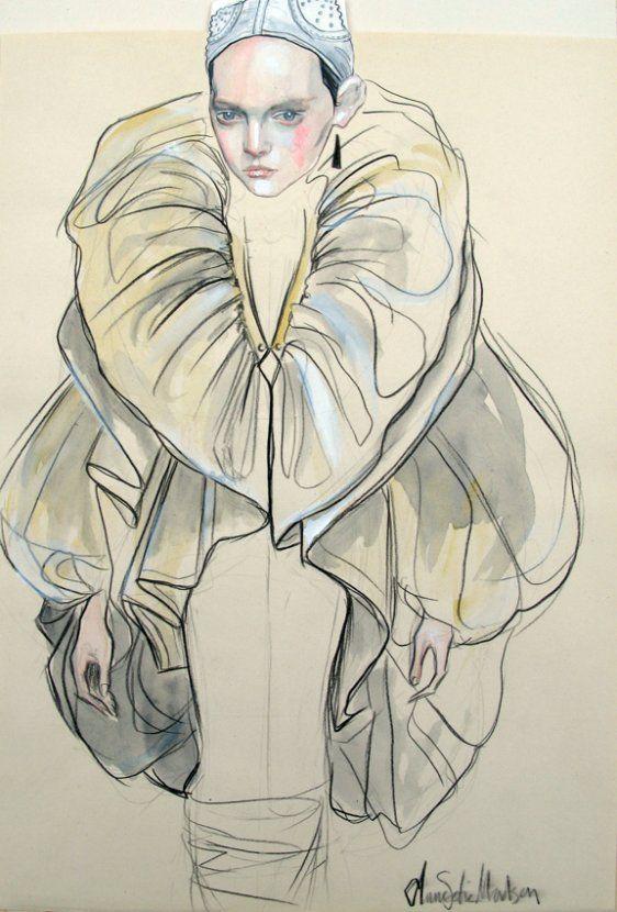 Anne Sofie Madsen; white space, fashion illustration