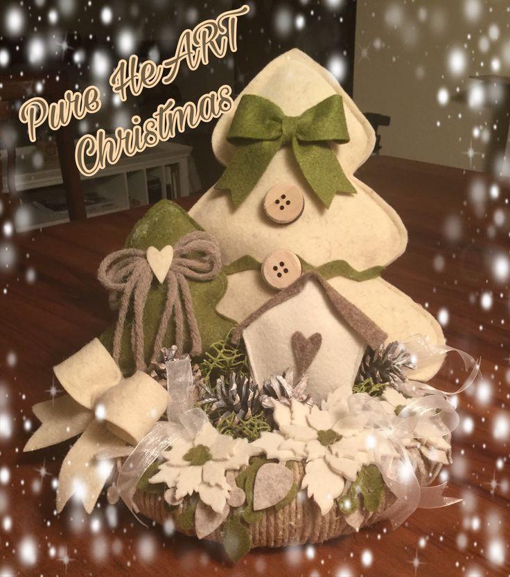 # paesaggio natalizio feltro e pannolenci.