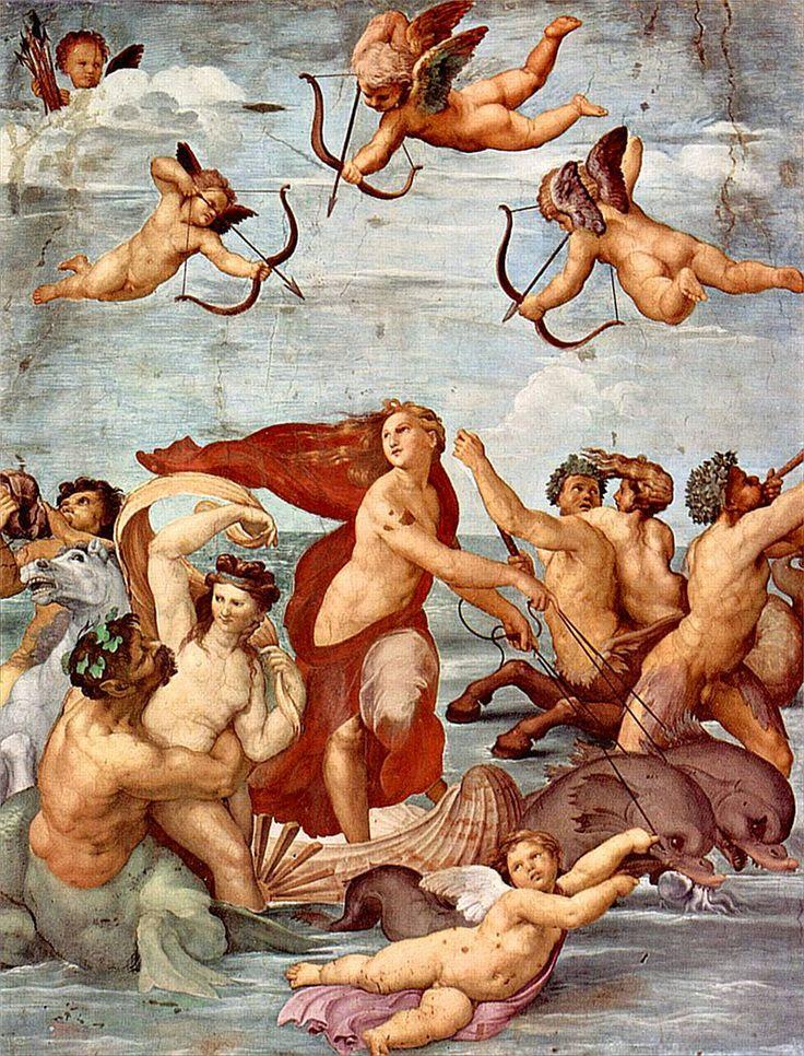 Raphaël (peintre) — Détail du Triomphe de Galatée. Fresque de la Villa Farnesina. 1511.