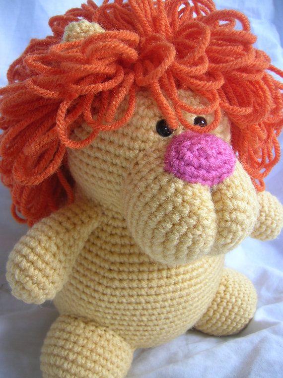 Leonard the Lion  Amigurumi Crochet PATTERN ONLY by daveydreamer, $3.50