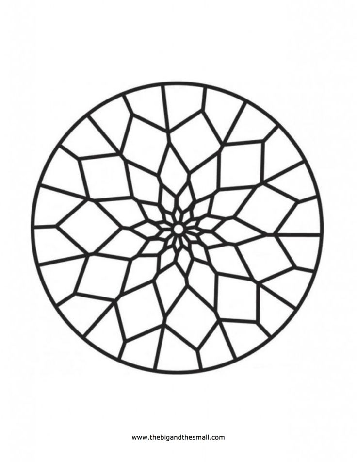 Islamic ornament mosaic coloring page free printable pages for Mosaic templates for kids