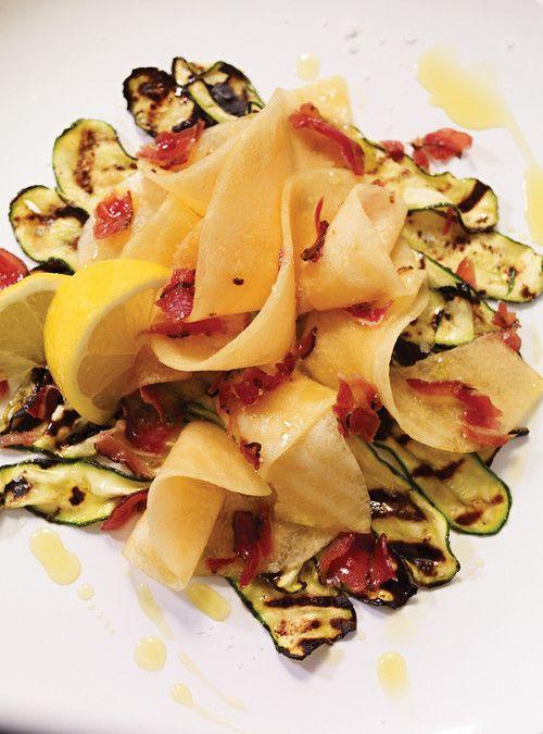 Salade de cantaloup et de courgettes grillées Recettes | Ricardo