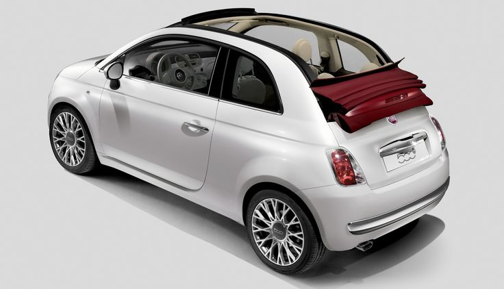 Car Specifications: Fiat 500 Cabrio, 1300cc, manual, 4 seats, 2 doors.  Extra: A/C, radio, CD player