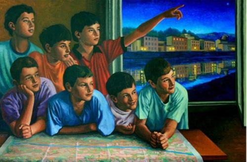 Carlo Bertocci (1946, Italian) The River