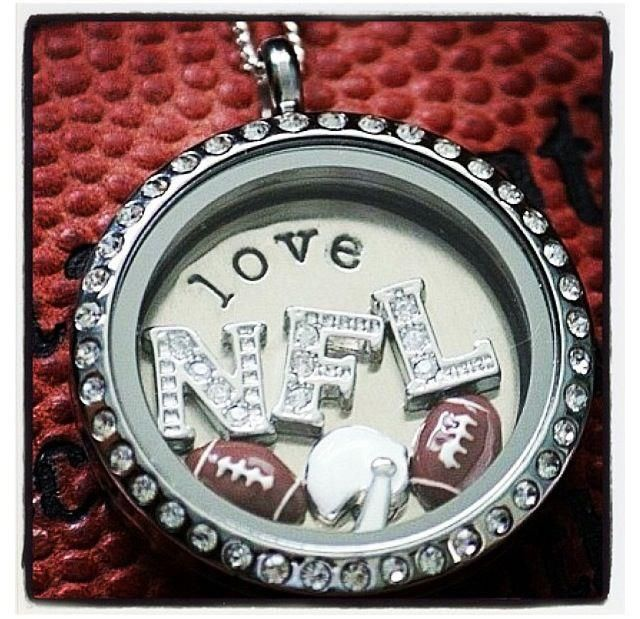 NFL Origami Owl Football Locket Make them for your favorite team or player! Join my Team ID#2063