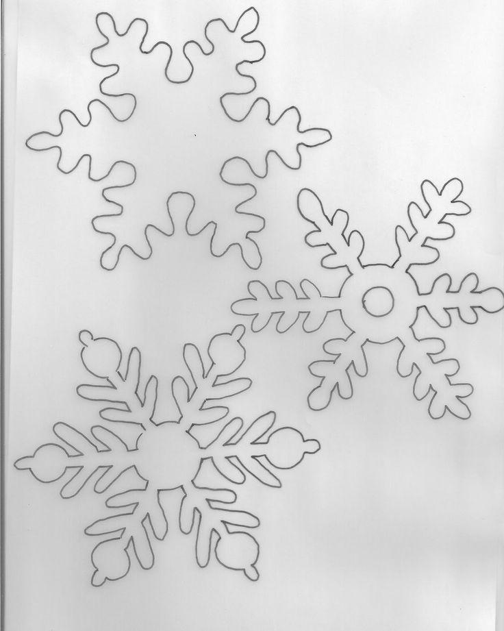cartamodelli fiocchi di neve in feltro - Cerca con Google