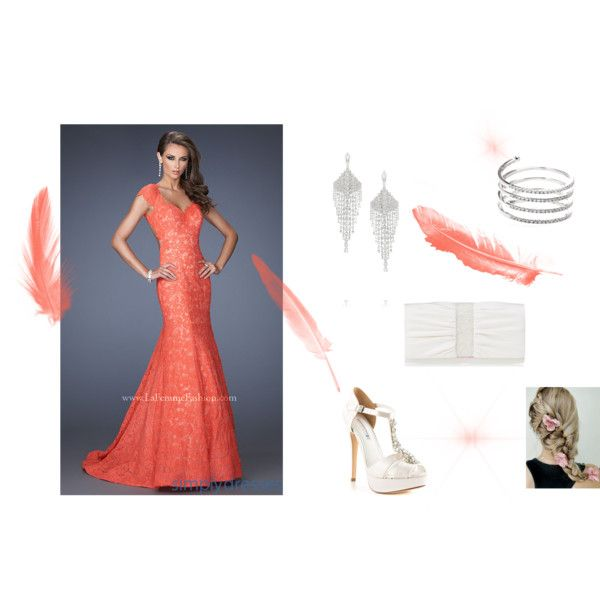 """Coral dream"" by balsamoirene on Polyvore"