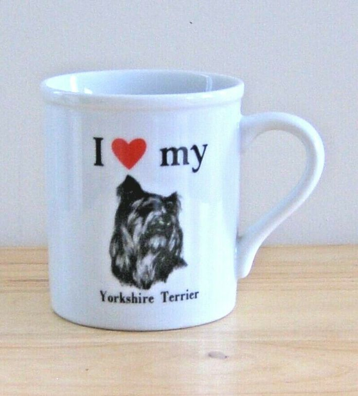 I Love My Yorkshire Terrier Mug Yorkie Coffee Cup Strand
