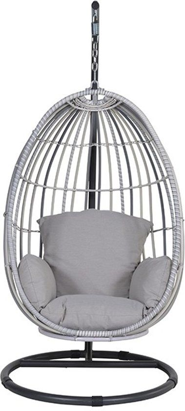 Hangstoel Swing Egg.Garden Impressions Panama Hangstoel Swing Egg Licht Grijs Zand