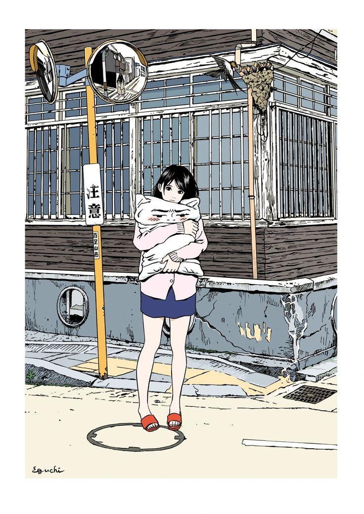 """江口寿史 on Twitter: """"山上たつひこ書き下ろし新作小説のカバー描きました。ソバ殻枕が主人公のハードボイルド『枕の千両』。この娘が酷い目に遭わされます。この絵が装丁家セキネシンイチによってどんなデザインにおとしこまれるのかは書店で!11月30日発売です! https://t.co/YzxYJWUbcn"""""""
