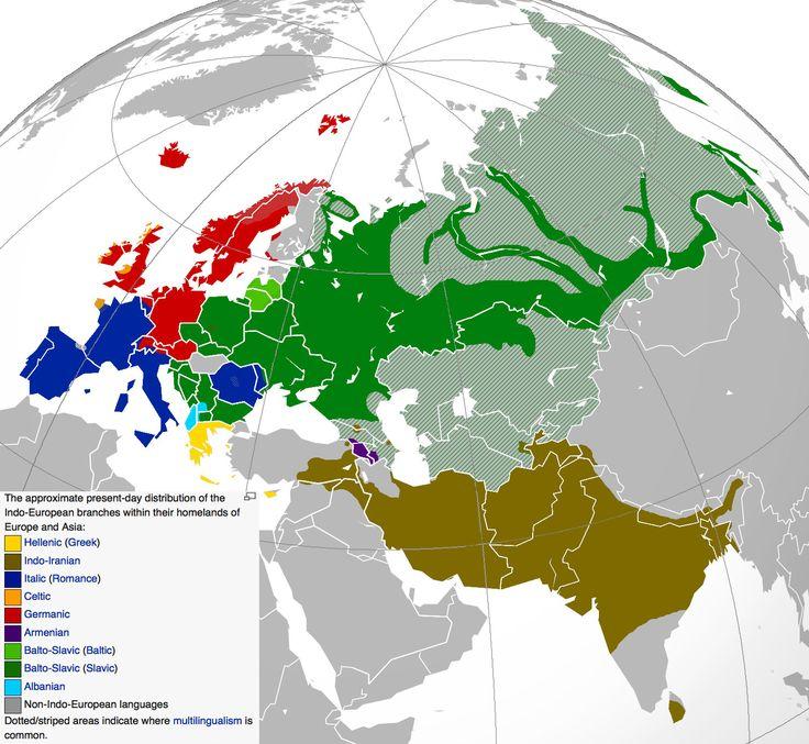 Indoeuropean languages today / Lenguas de raiz indoeuropea hoy en día - Vox