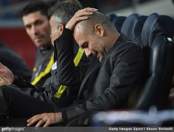 Brazilian full-back Dani Alves apparently has the answer on why Pep Guardiola is so often seen rubbing his head