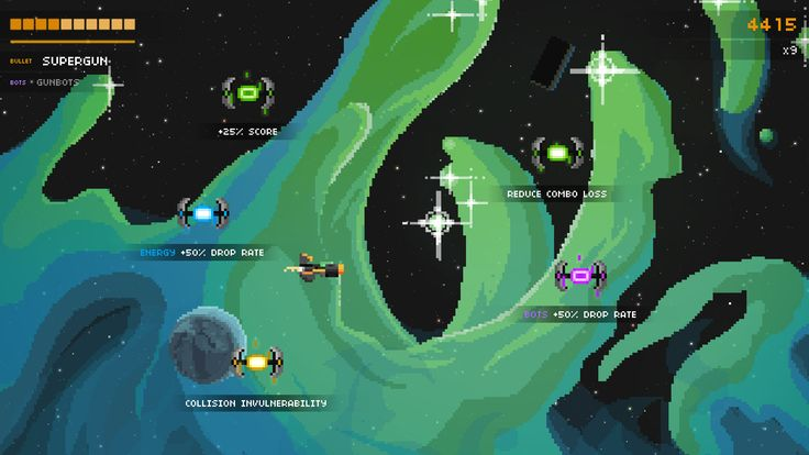 Steredenn is a roguelike-shmup video game for PC/Mac/Linux, Xbox One and PlayStation 4 made by Pixelnest Studio.