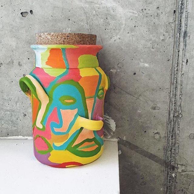 #hollyschroder #schroder #painting #art #contemporaryart #paint #ceramic #pottery #paintedpottery