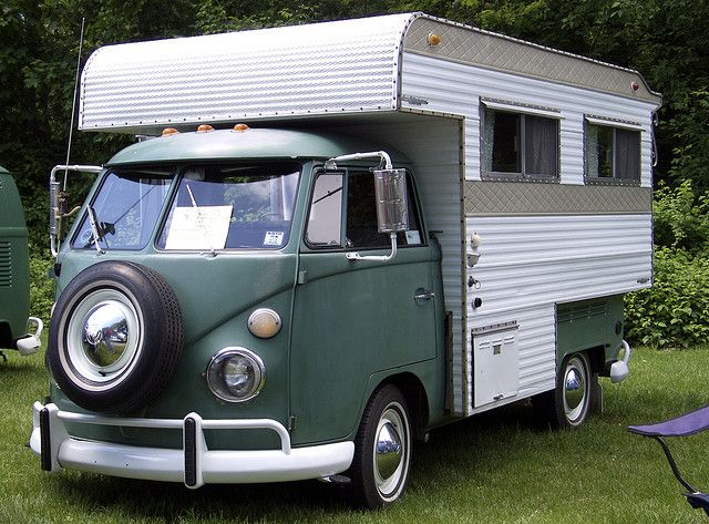 "Totally a case of fitting a round peg in a square hole. It fits, but why would you want to? This bastard child of a VW Bus and a Pickup ""Topper"" Trailer is called a Perris Valley Camper, from Perris California. I've seen similar ones before from South Africa.."